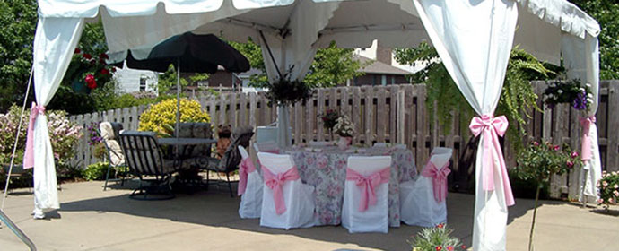 Wedding tent rentals abc fabulous events party rentals linen and decor for weddings junglespirit Images