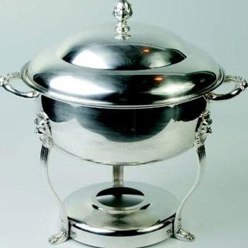 8 Qt Silver Round Chafer