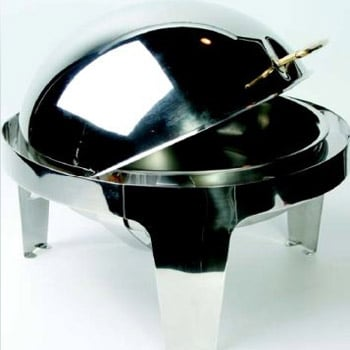 8 Qt Stainles Round Rolltop Chafer