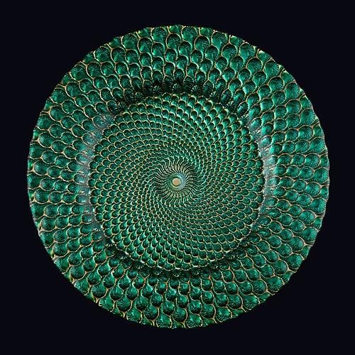 Luxe 13in Chgr Emerald Green