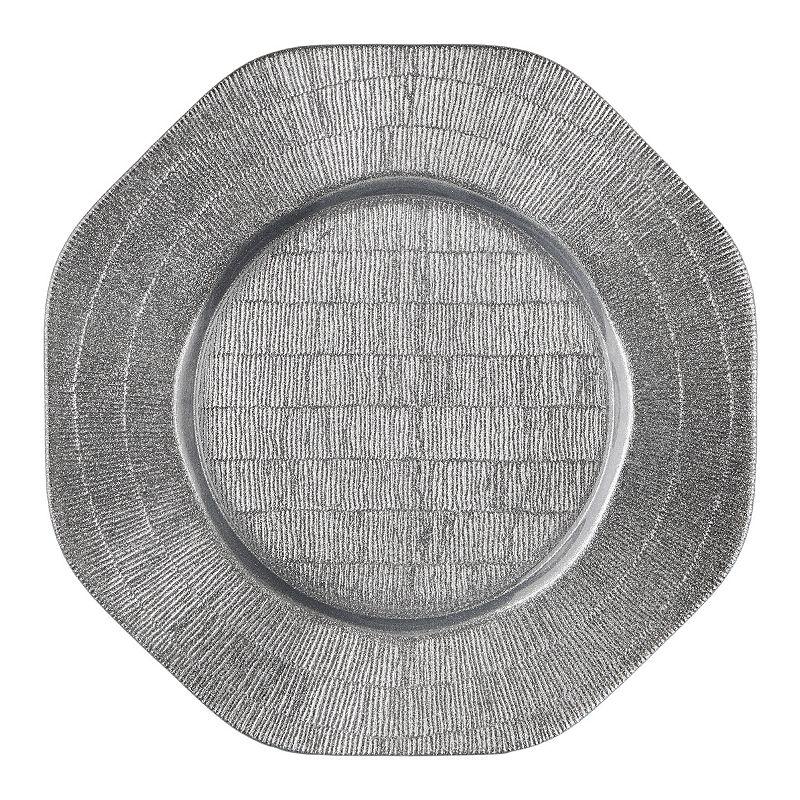 Octagon Silver Glitter