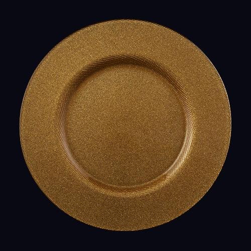 Reflex 13in Chgr Gold Glitter