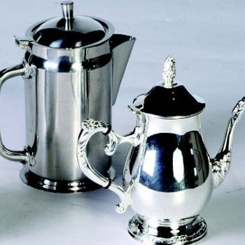 Silver & Stainless Coffee Server