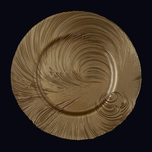 Tidal Wave 13in Chgr Gold