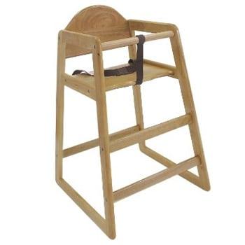 Children's Natural Wood High-Chair