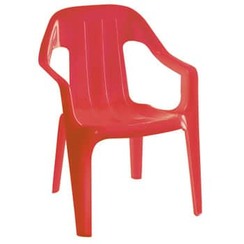 Children's Red Plastic Chair