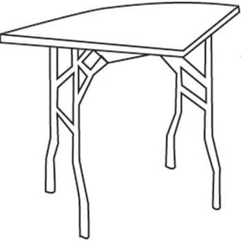 Corner Wedge Table