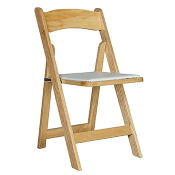 Natural Wood Folding Chair