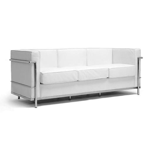 6′ White Sofa