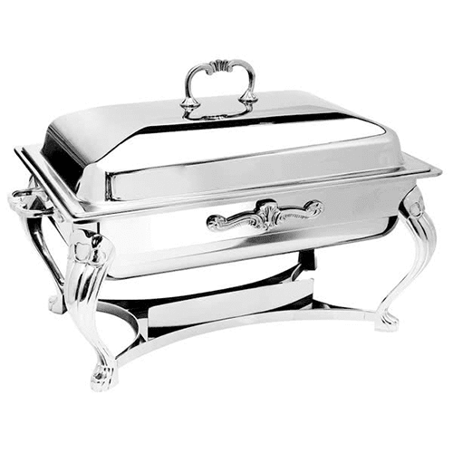 8 Qt Silver Rectangle Chafer