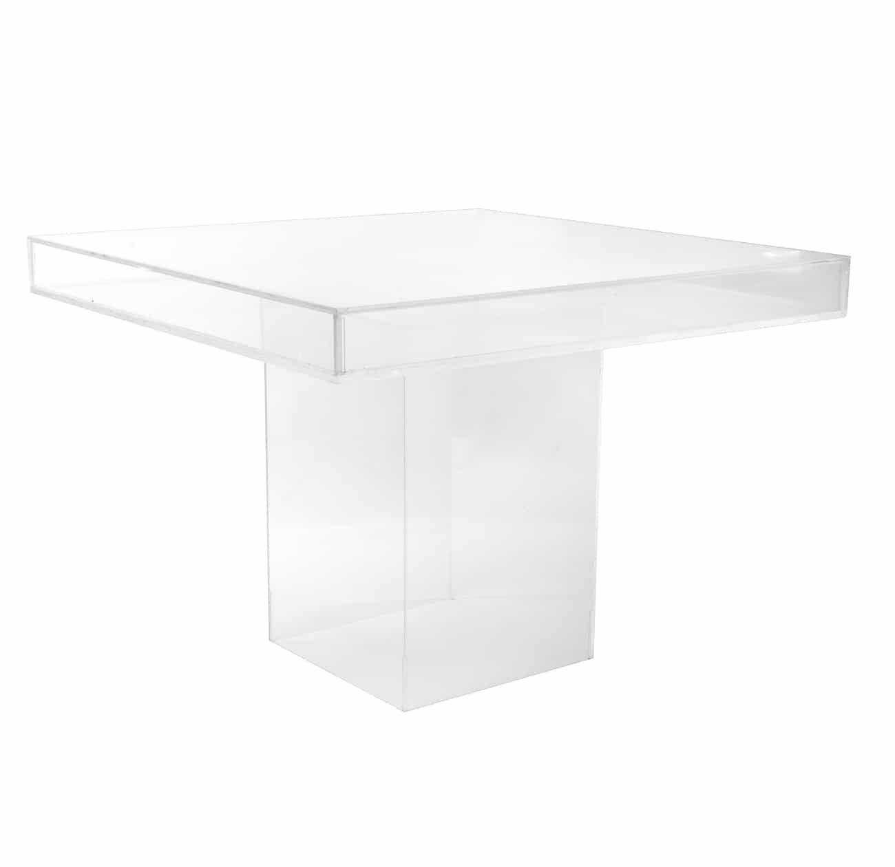 Aqua Fillable Lucite Table