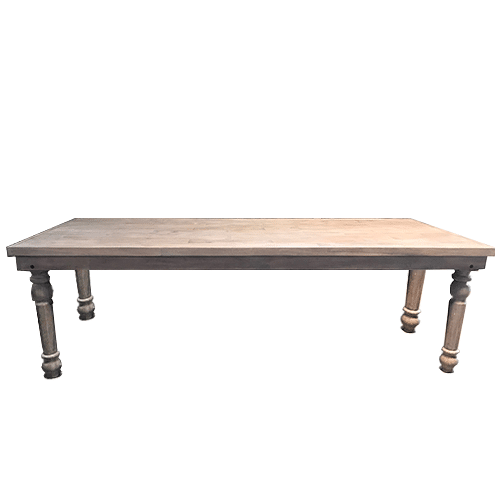 Distressed Gray Farm Table