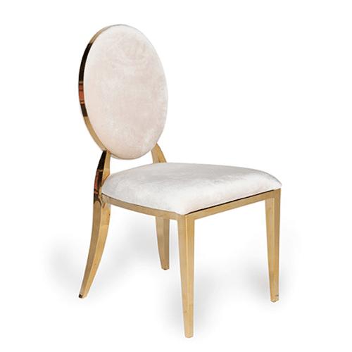 Gold Bedford Dining Chair (Cream Velvet)