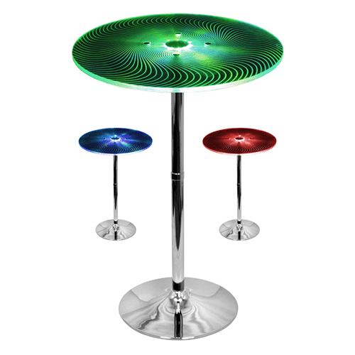 LED Acrylic/Chrome Table