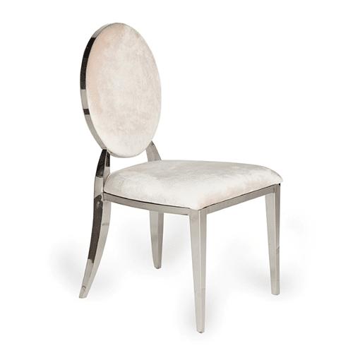 Silver Bedford Dining Chair (Cream Velvet)
