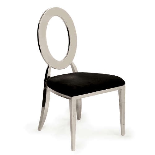 Silver Oz Dining Chair (Black)