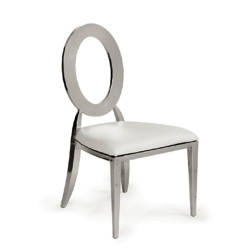 Silver Oz Dining Chair (White)