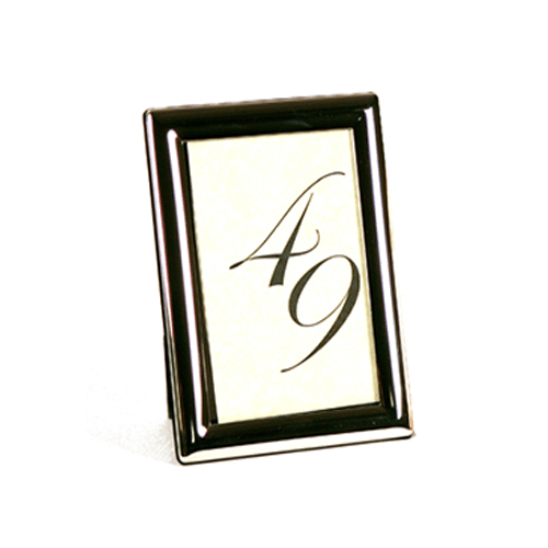 Table Number with Black Frame
