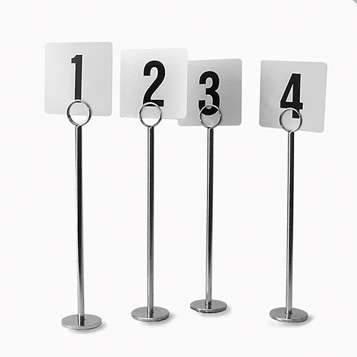 Tables Numbers with Stands