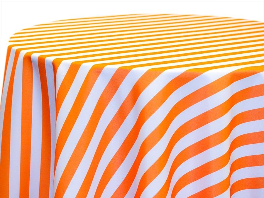 Awning Stripe – Tangerine