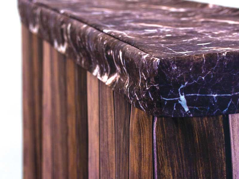 Bar Cover – Dark Wood – Tinted Marble Cap