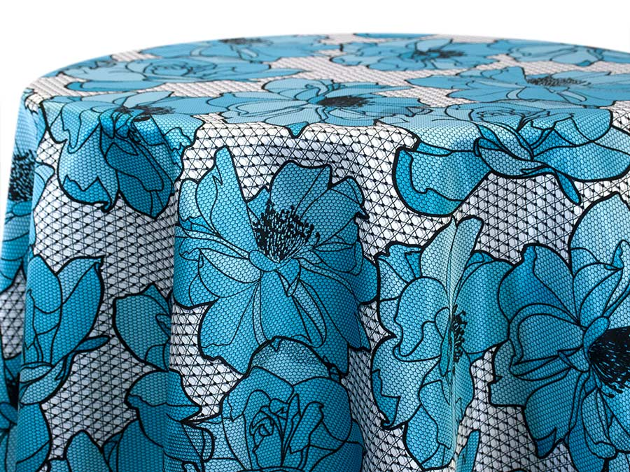 Big Lace Floral – Baby Blue
