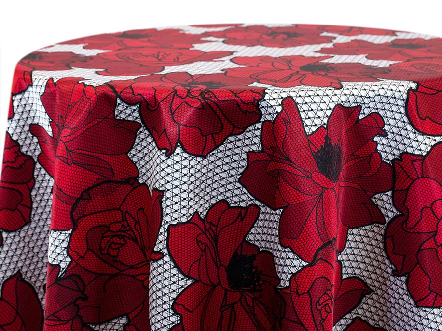 Big Lace Floral – Red