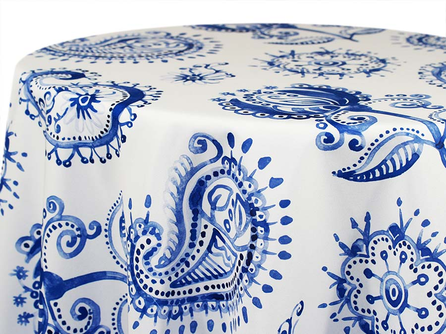 Country French Paisley – White