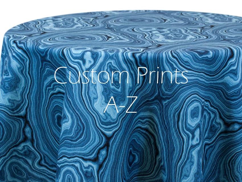 Custom Prints a-z overlay