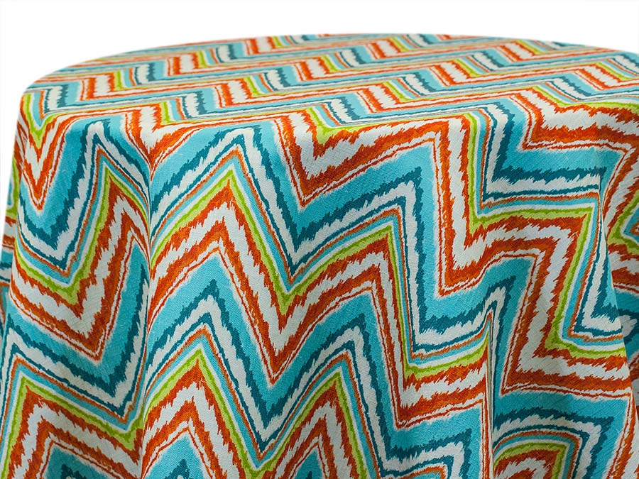 Flame Stitch – Turquoise