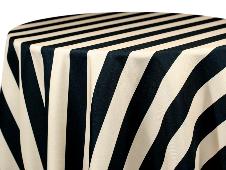 Hudson Stripe – Black Cream