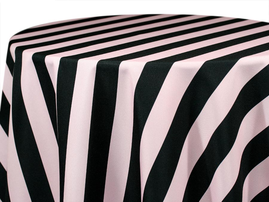 Hudson Stripe – Black Premier Rose