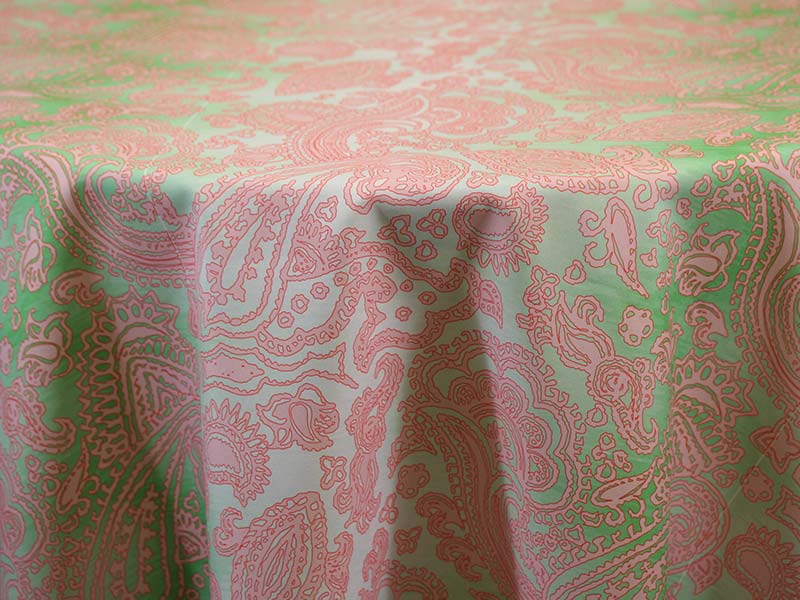 Ombre Paisley – Green Pink