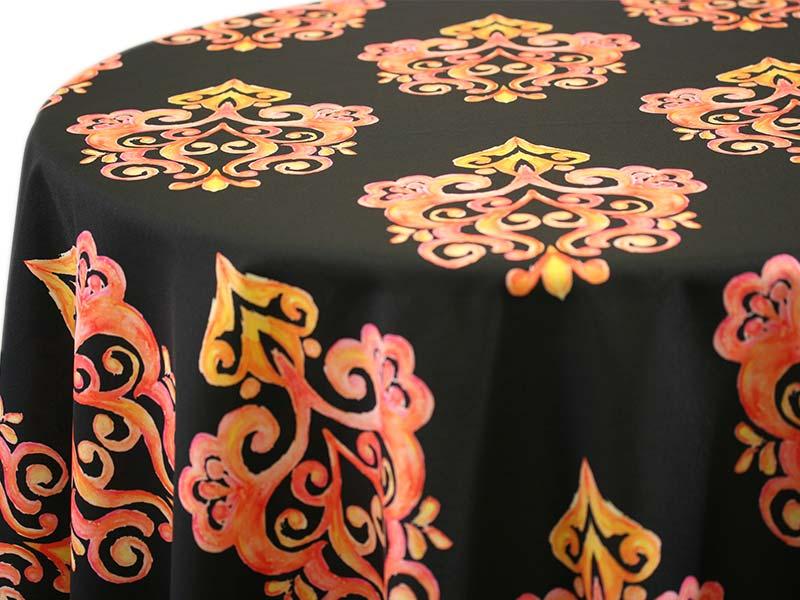 Prato – Orange on Black