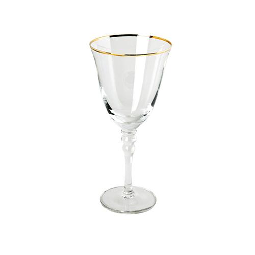 10oz Gold Rim Wine Glass