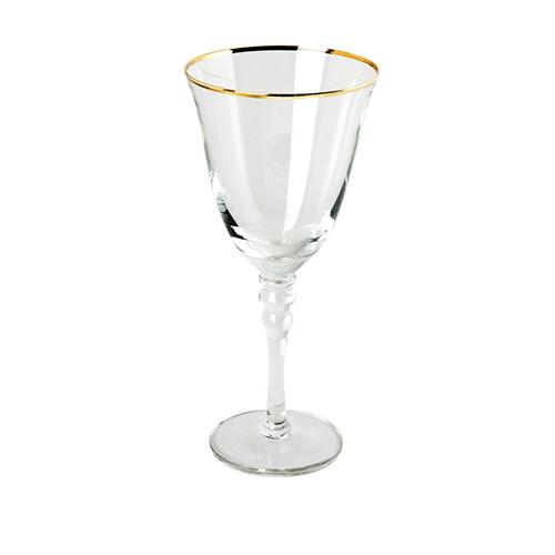 14oz Gold Rim Wine Glass
