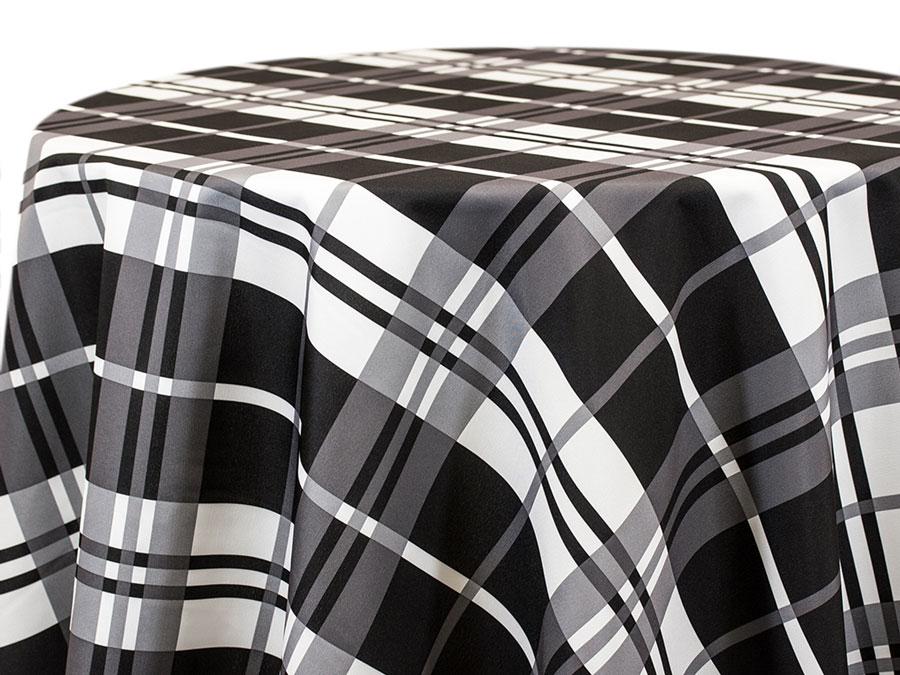 3 Inch Buffalo Check with Stripe – Black Grey