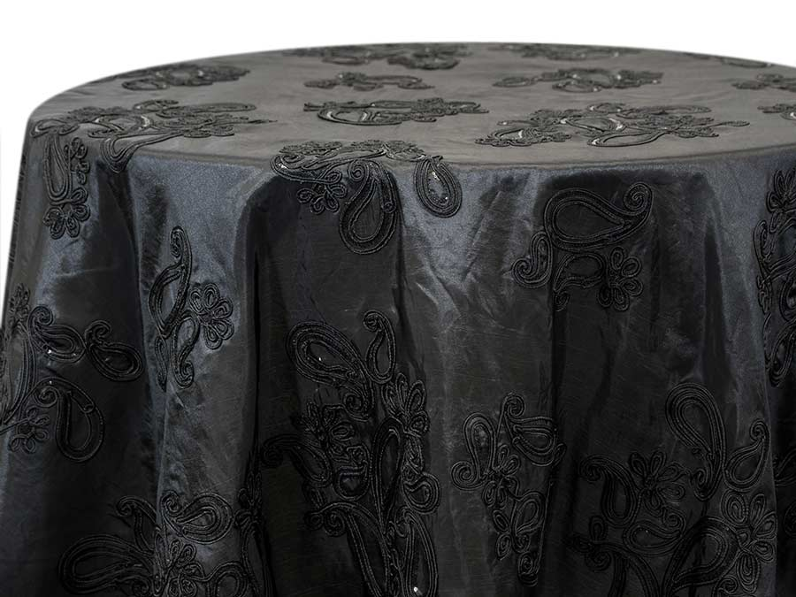 Paisley Sequin – Black