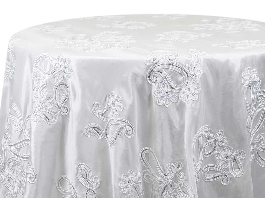 Paisley Sequin – White