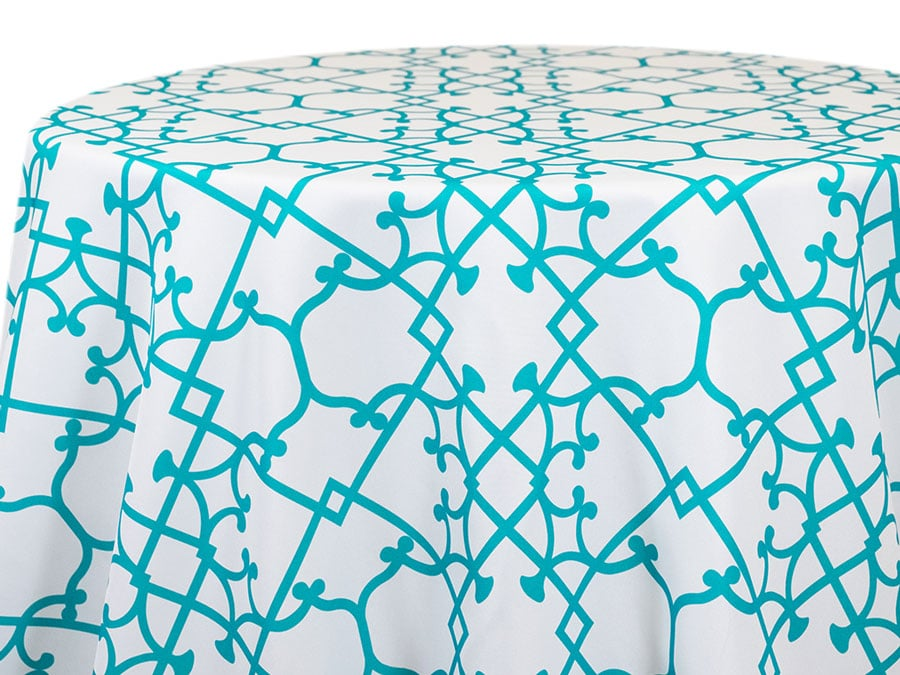 Tray Graphic – Turquoise on White