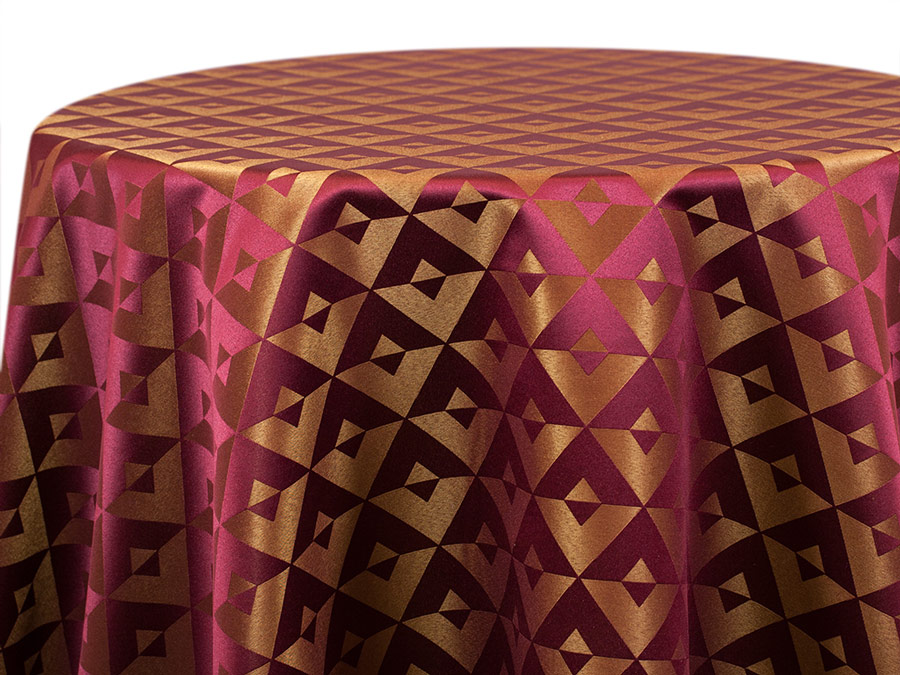Versailles Geometric – Burgundy