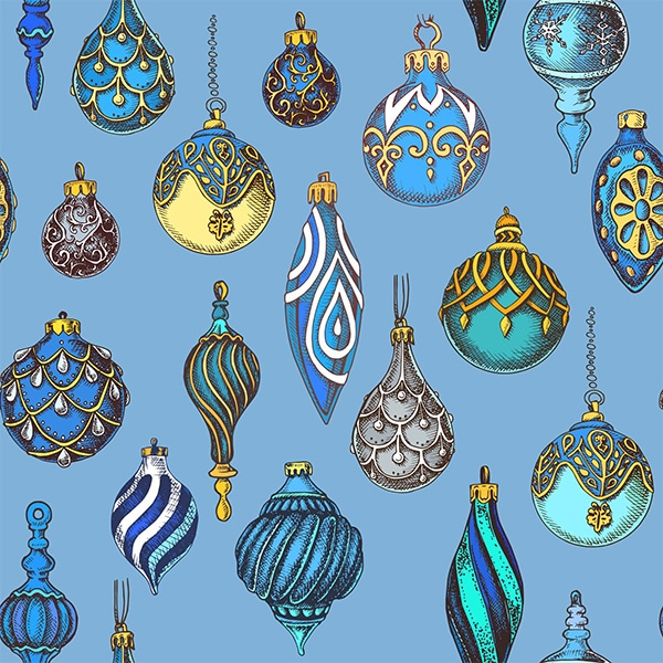 Hanging Ornaments- Blue