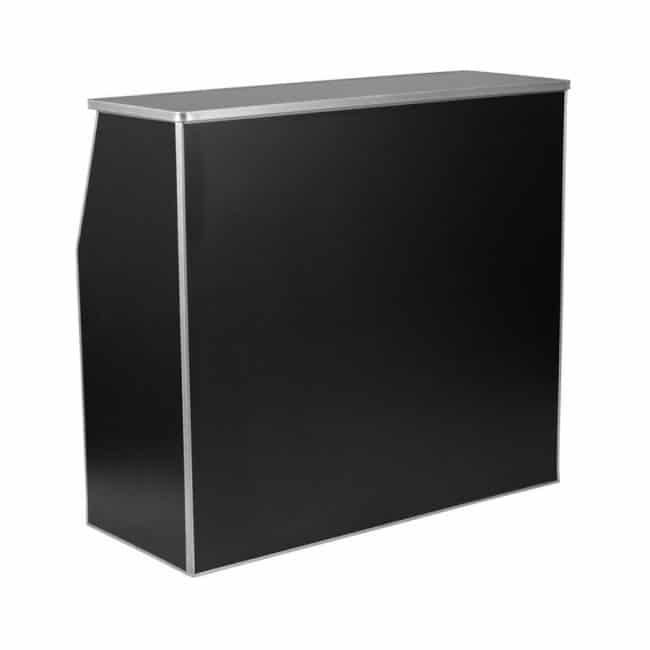 4′ Black Folding Bar with Shelf