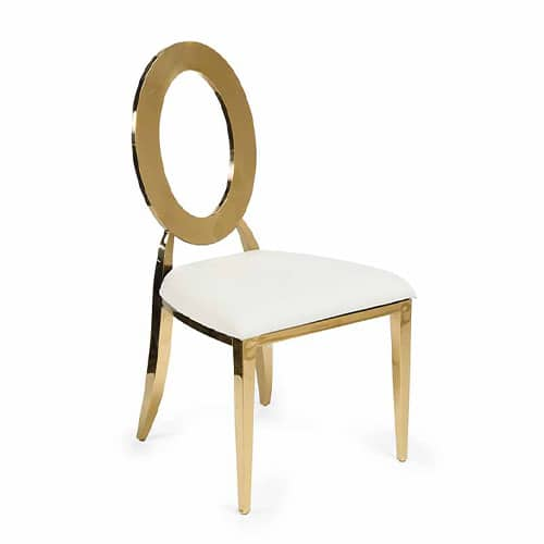 Gold Infinite Chair with Cream Cushion