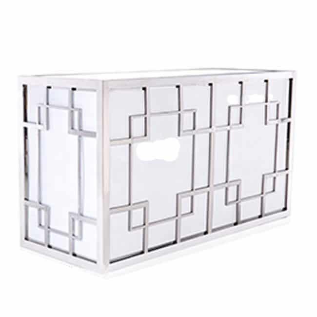 Silver Geometric Designer Bar