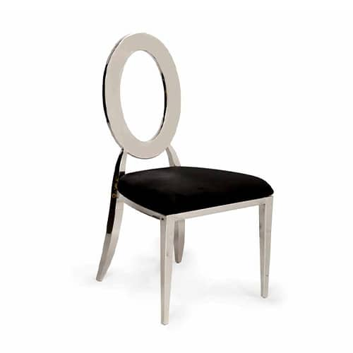 Silver Infinite Chair with Black Cushion