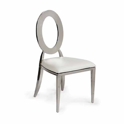 Silver Infinite Chair with Cream Cushion