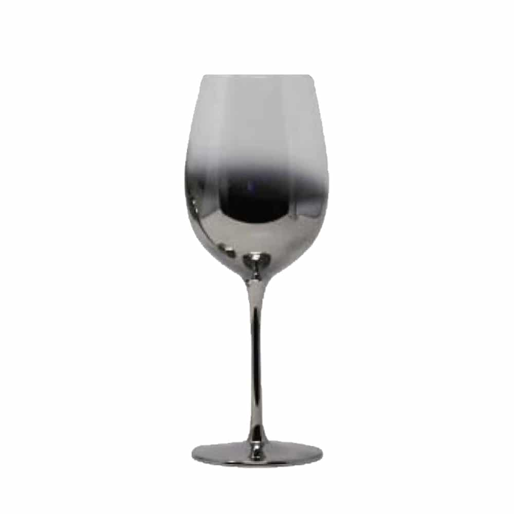17.5oz Ombre Silver Wine Glass