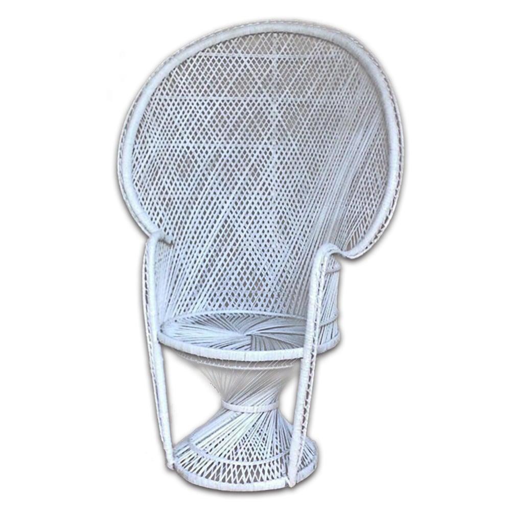 White Wicker Bridal Chair